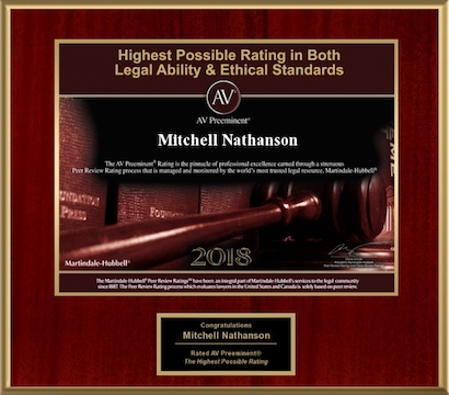 AV Rated Mitchell A. Nathanson 2018
