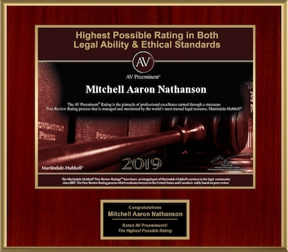 AV Rated Mitchell A. Nathanson 2019