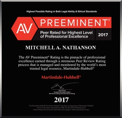 AV Rated Mitchell A. Nathanson 2017