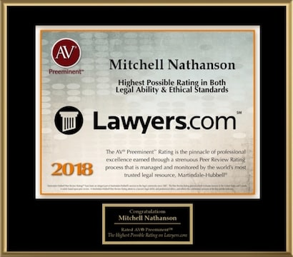 Lawyers.com - Mitchell A. Nathanson 2018